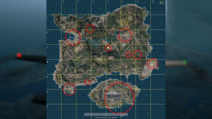 Lootmap Playerunknown's Battlegrounds   Pixel Vault